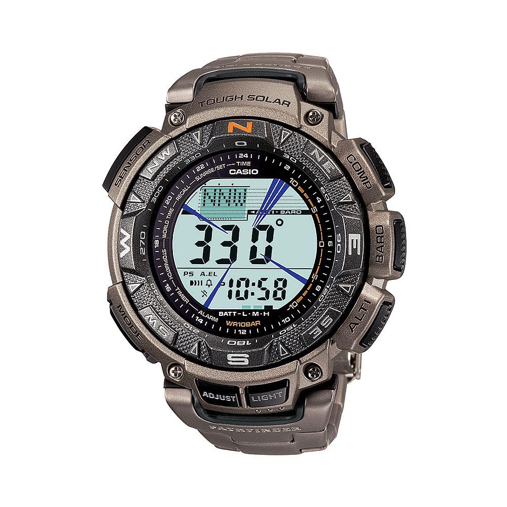 Casio Men's Pathfinder Tough Solar Triple Sensor Digital Chronograph Watch - PAG240T-7