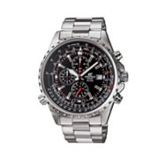 Casio Edifice Stainless Steel Flight Computer Chronograph Watch - Men