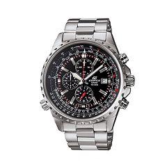 Casio Men's EDIFICE Stainless Steel Flight Computer Chronograph Watch - EF527D-1AV