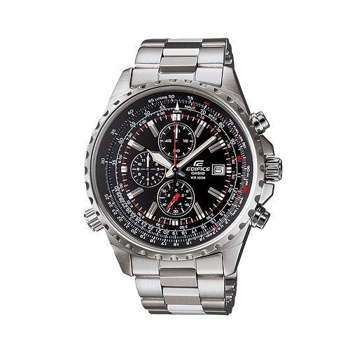 Casio Edifice Stainless Steel Flight Computer Chronograph Watch $ 122.50