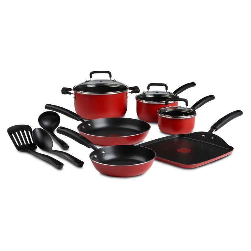 T-Fal Signature Nonstick Aluminum 12-pc. Cookware Set, Red