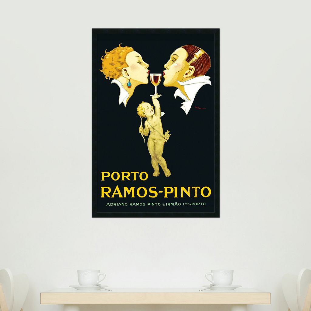 Porto Ramos-Pinto Framed Poster by Rene Vincent