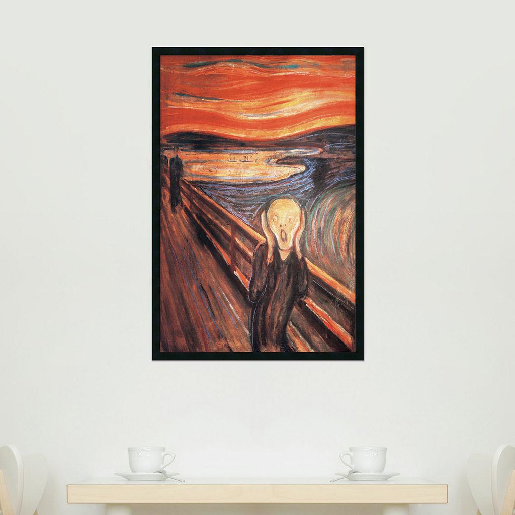 The Scream Framed Poster by Edvard Munch