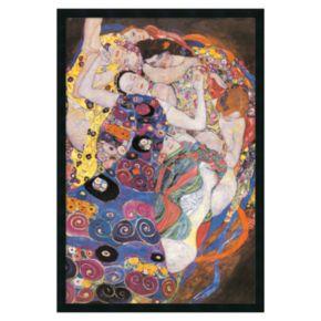 The Virgins Framed Poster by Gustav Klimt