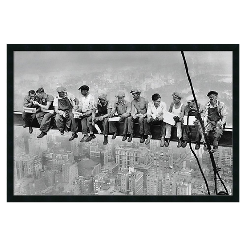 """""""New York - Lunch Atop a Skyscraper"""" Framed Poster by Charles C. Ebbets"""