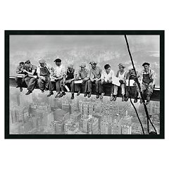 'New York - Lunch Atop a Skyscraper' Framed Poster by Charles C. Ebbets