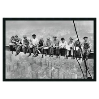 New York - Lunch Atop a Skyscraper Framed Poster by Charles C. Ebbets
