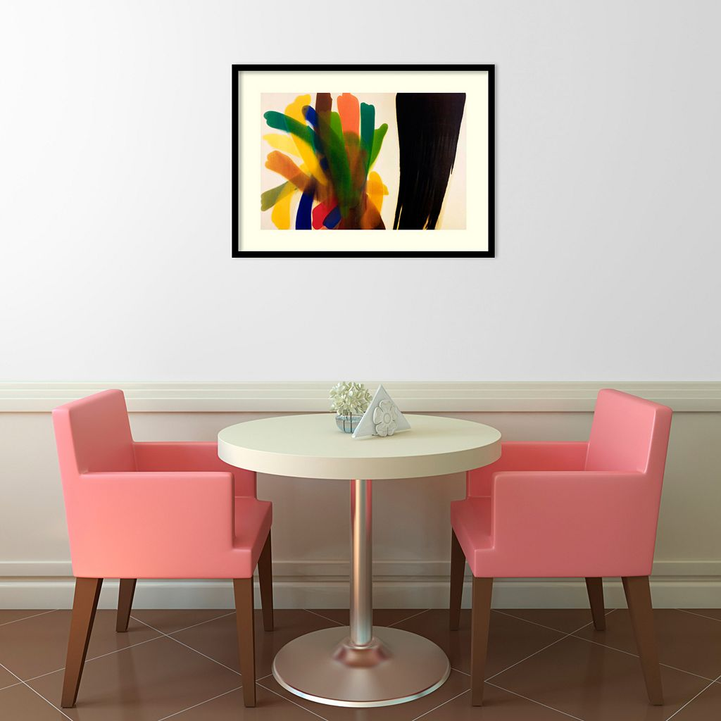 Winged Hue II Framed Art Print by Morris Louis