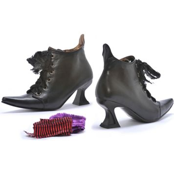 Witch Costume Boots - Adult