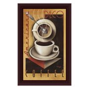 Americana Deco Coffee Framed Canvas Art by Michael L. Kungl