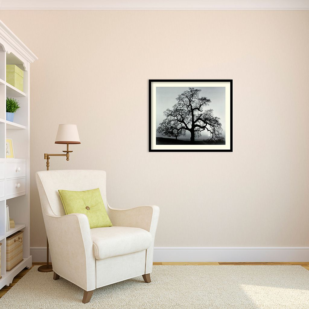 Oak Tree, Sunset City, California, 1962 Framed Art Print by Ansel Adams