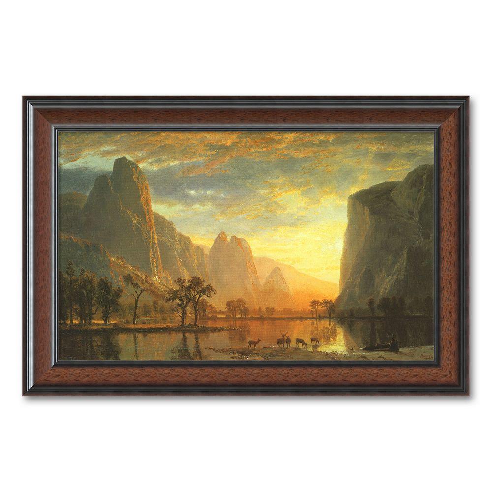 """Valley of the Yosemite, 1864"" Framed Art Print by Albert Bierstadt"