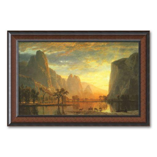 Valley of the Yosemite, 1864 Framed Art Print by Albert Bierstadt