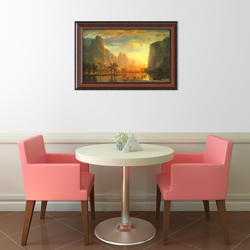 Valley of the Yosemite, 1864 Framed Art Print by Albert Bierstadt