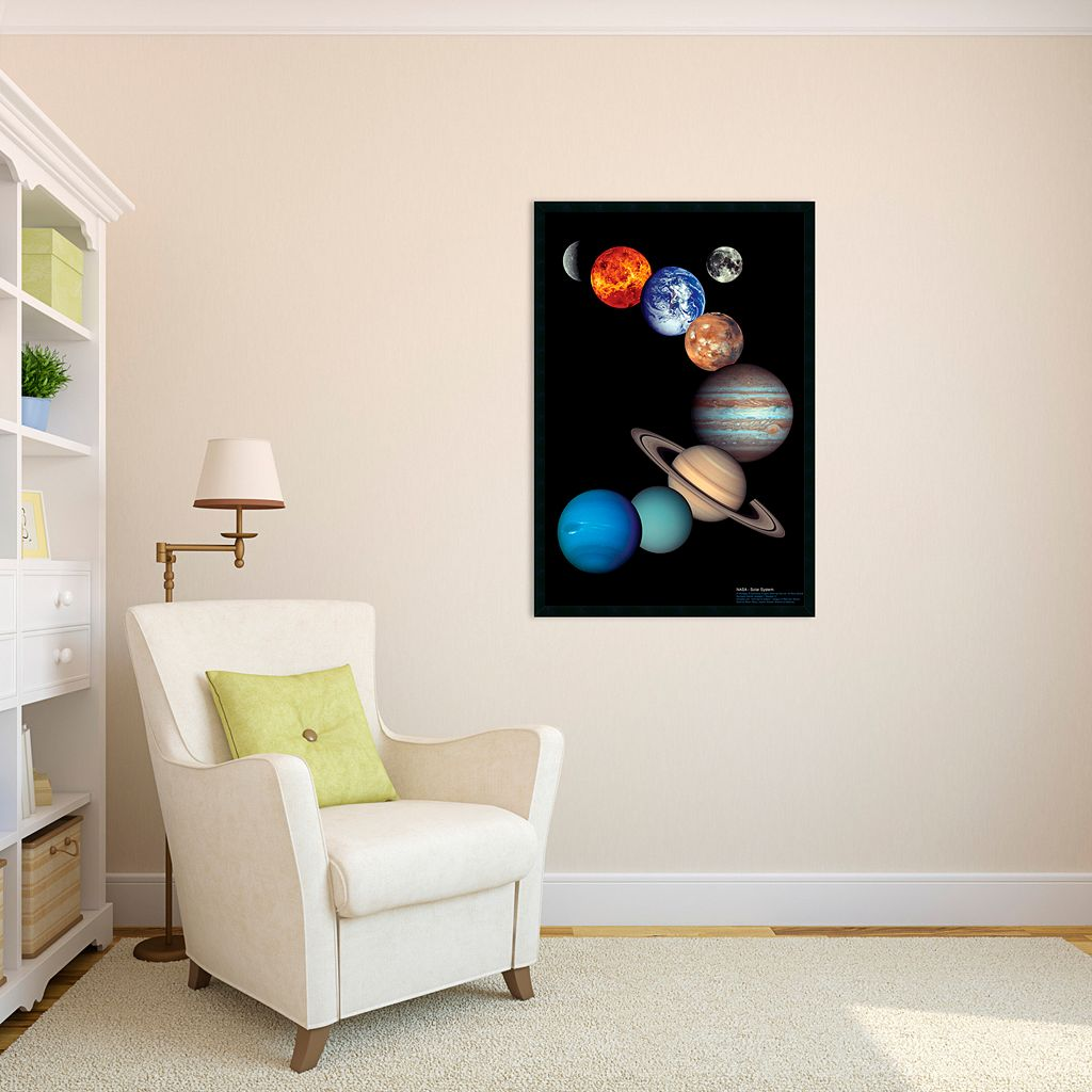 NASA Solar System Framed Poster
