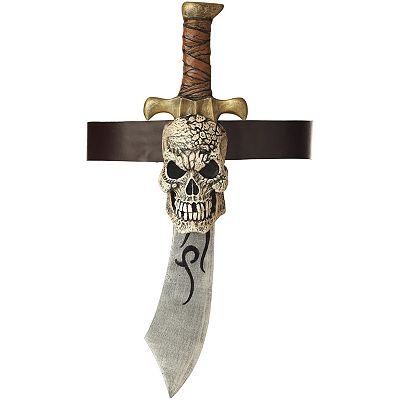 Pirate Sword and Skull Sheath Set