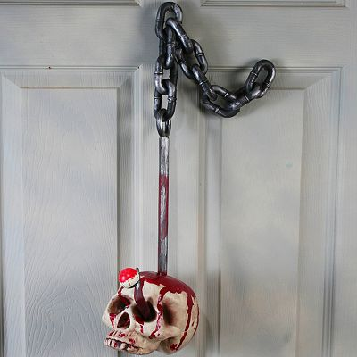 Skull On A Hook Decoration