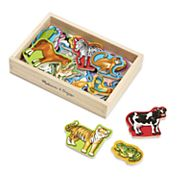 Melissa and Doug Magnetic Wooden Animals Set