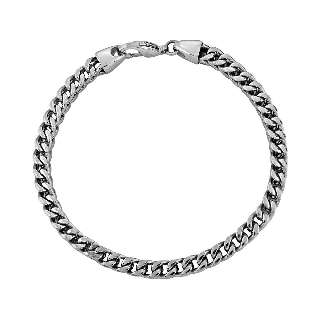 LYNX Stainless Steel Foxtail Chain Bracelet - Men