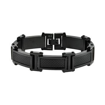 LYNX Stainless Steel Black Ion Bracelet - Men