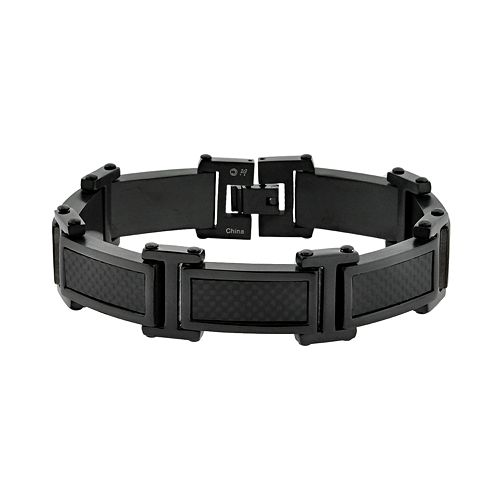 LYNX Stainless Steel Black Ion Bracelet - Men