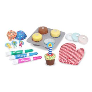 Melissa & Doug Bake & Decorate Cupcake Set