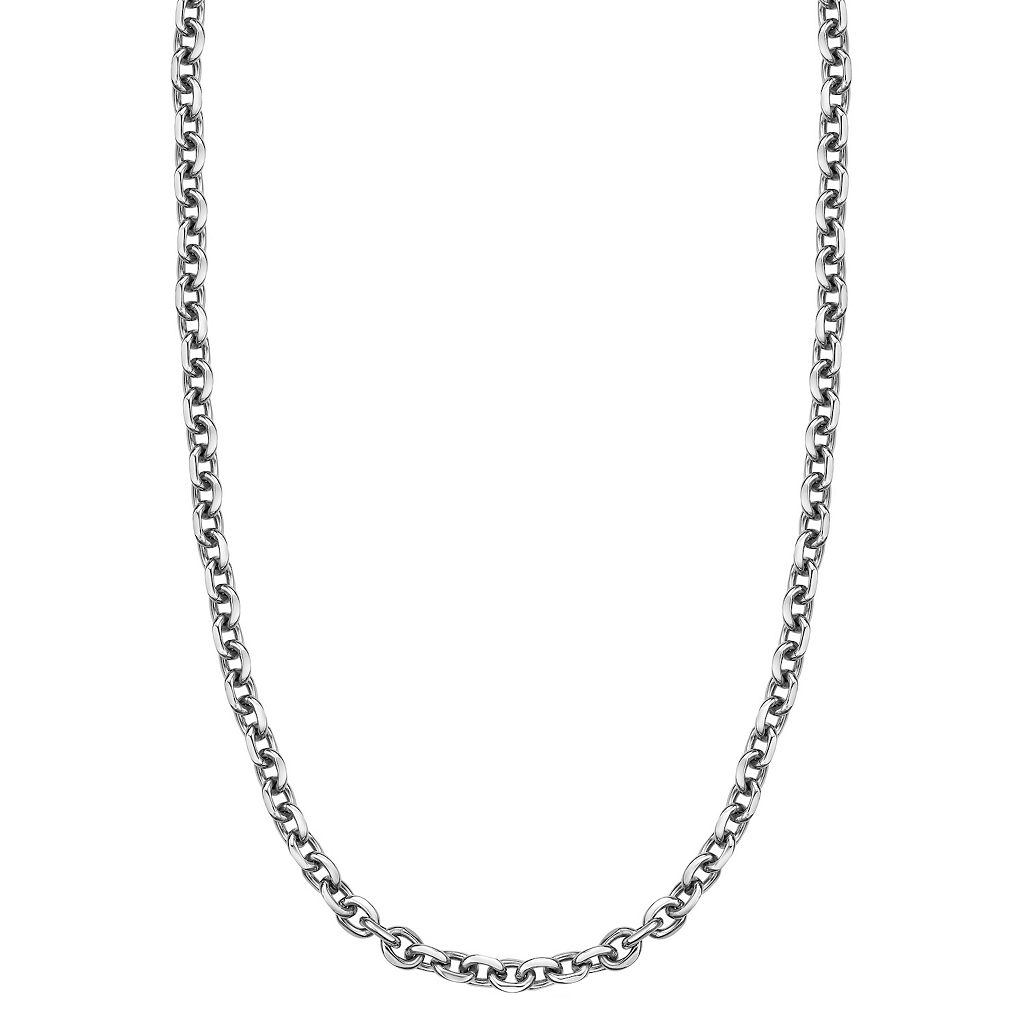 LYNX Stainless Steel Rolo Chain Necklace - Men