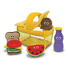 Melissa & Doug Picnic Basket Fill & Spill Set