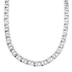 LYNX Stainless Steel Marine Link Necklace - Men