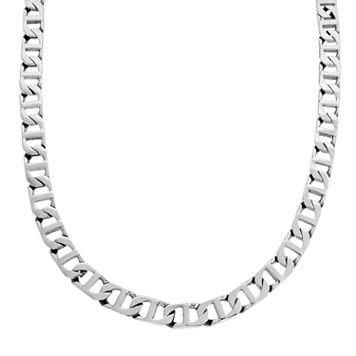 LYNX Stainless Steel Marine Link Necklace - Men
