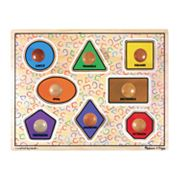 Melissa and Doug Large Shapes Jumbo Knob Puzzle