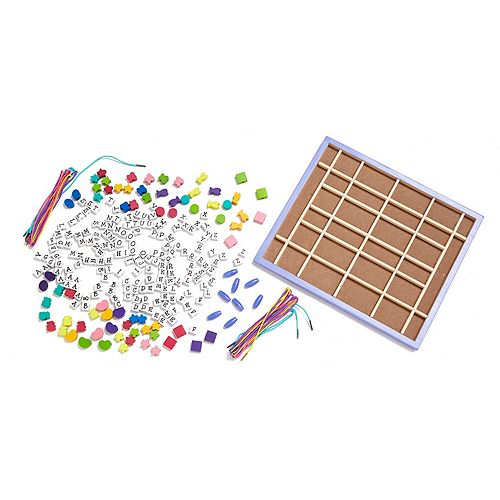 Melissa Doug Wooden Stringing Beads Set