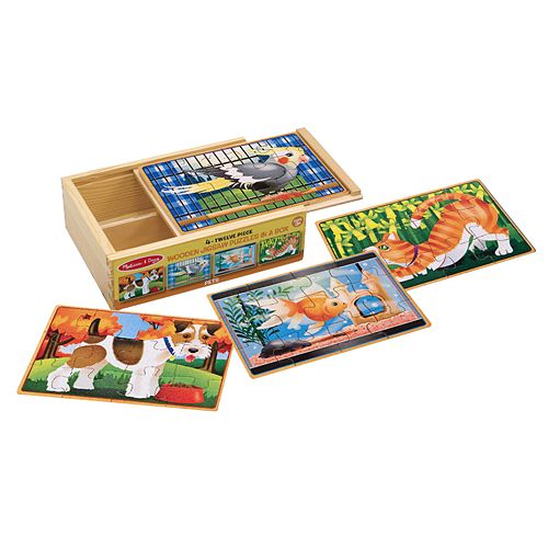 Melissa & Doug Pets Jigsaw Puzzles in a Box Set