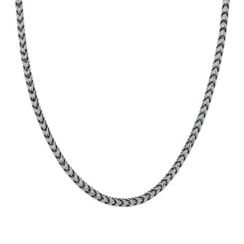 LYNX Stainless Steel Foxtail Chain Necklace - Men