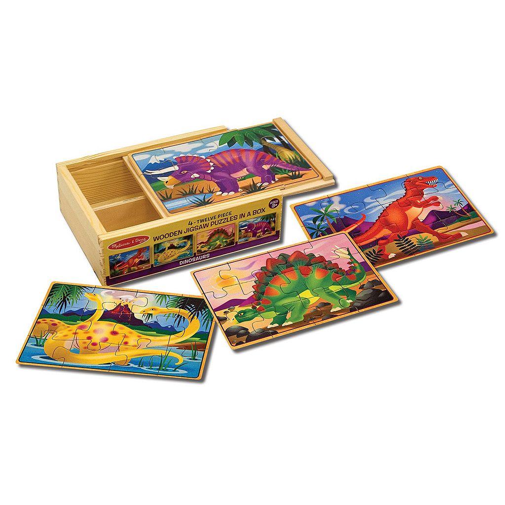 Melissa & Doug Dinosaur Jigsaw Puzzles Box Set