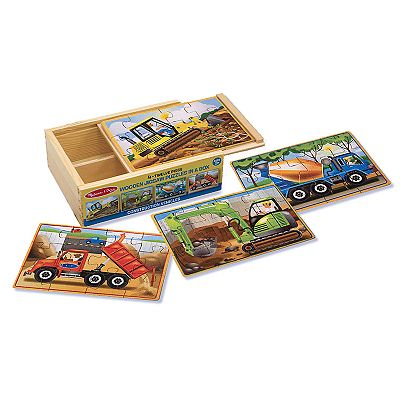 Melissa and Doug Construction Jigsaw Puzzles in a Box Set