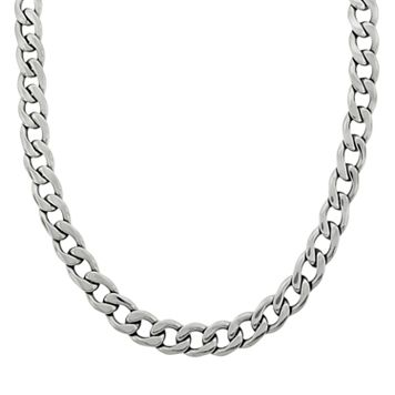 LYNX Stainless Steel Curb Chain Necklace - 22-in. - Men