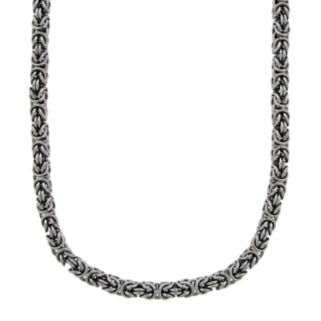 Stainless Steel Byzantine Necklace - Men