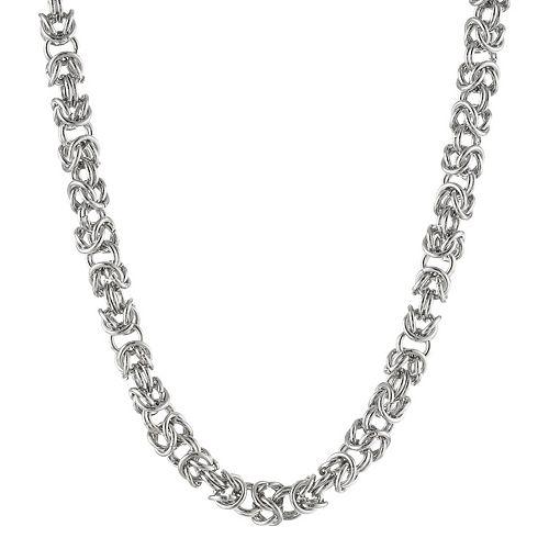 Stainless Steel Byzantine Necklace - Men