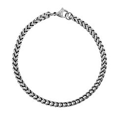 LYNX Stainless Steel Foxtail Chain Bracelet - Men