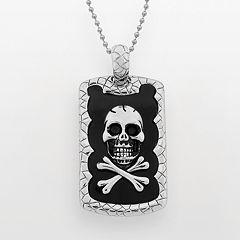 LYNX Stainless Steel Skull Dog Tag - Men