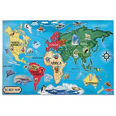 Melissa & Doug 33-pc. World Map Floor Puzzle
