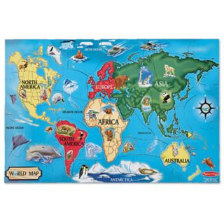 Melissa and Doug 33-pc. World Map Floor Puzzle