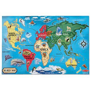 Melissa & Doug 33-pc. World Map Floor Puzzle