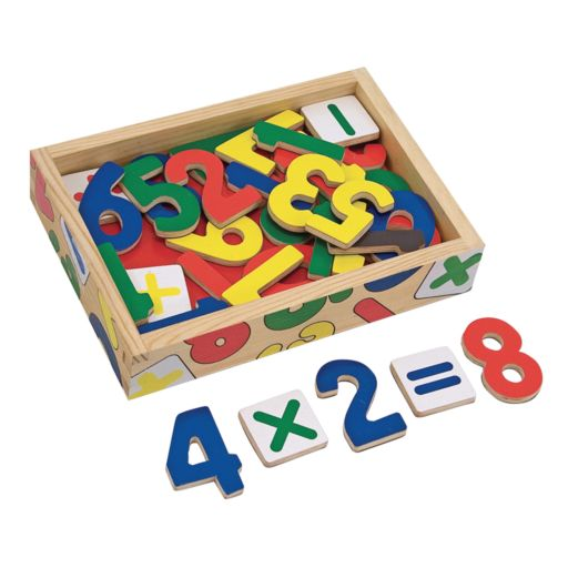Melissa and Doug Magnetic Wooden Numbers Set