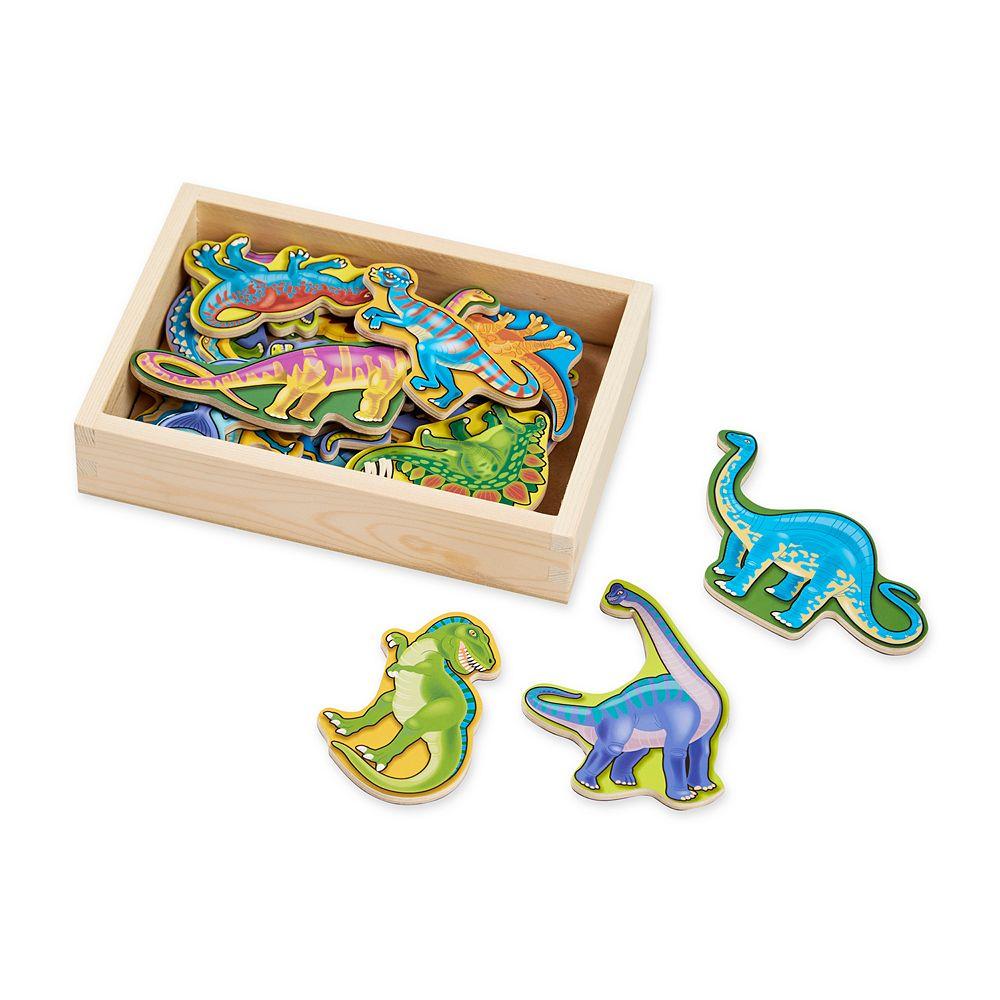 Melissa & Doug Magnetic Wooden Dinosaur Set