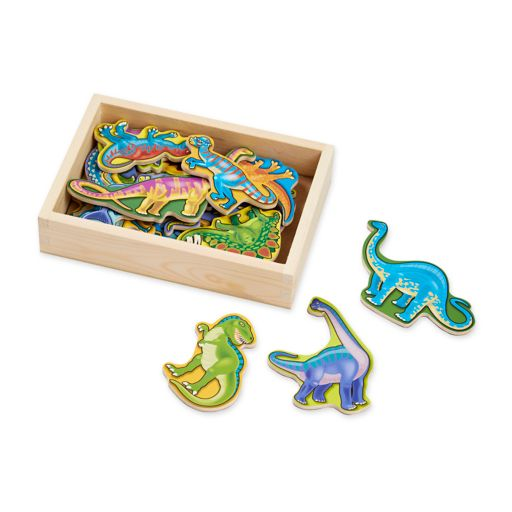 Melissa and Doug Magnetic Wooden Dinosaur Set