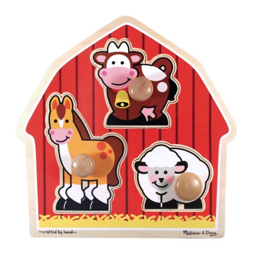 Melissa and Doug Barnyard Animals Jumbo Knob Puzzle