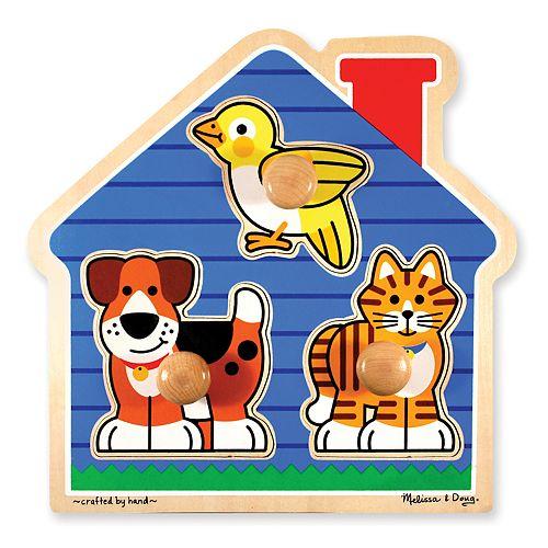 Melissa & Doug House Pets Jumbo Knob Puzzle