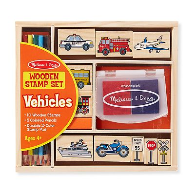 Melissa and Doug Vehicles Stamp Set